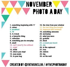 Inspired by my cousin Emi Nakamura's 30 day art challenge a couple months ago, I think I'm going to do the November Photo Challenge. Been awhile since I put Tatsu to good use anyway.