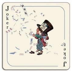 Avenida Home Alice In Wonderland Joker Placemat by Louise Kirk
