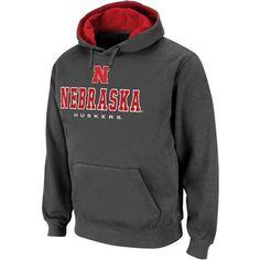 Nebraska Cornhuskers Charcoal Sentinel Pullover Hoodie Sweatshirt @Fanatics ® #Fanatics Wish List