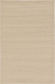 Beige Solid Frieze Area Rug