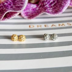 Crystal Ball Studs Crystal ball studs available in gold or silver. Size is 6mm. Includes box. Comment for color. Price firm unless bundled. Jewelry Earrings