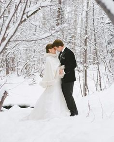 The perfect snowy shot for a Winter wedding.