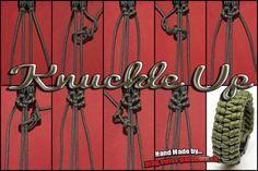 Knuckle Up und Tutorial Swiss Paracord Paracord Tutorial, Bracelet Tutorial, Paracord Braids, 550 Paracord, Paracord Bracelets, Paracord Projects, Macrame Projects, Paracord Ideas, Parachute Cord