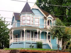 Blue Queen Anne Victorian