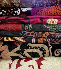 vintage embroideries from Tajikistan, Uzbekistan, and Kyrgyzstan...
