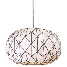 Characterized by its textural geometric design, this artful pendant brings a contemporary touch to your foyer or master suite.   Produc...
