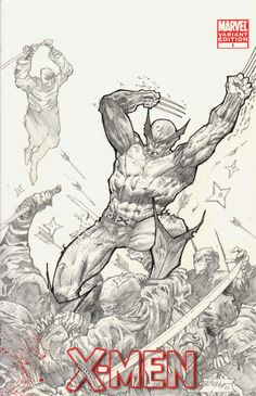 X-Men Featuring Wolverine Blank Cover Sketch, in Ray Racho's My Comic Art Comic Art Gallery Room
