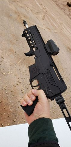 The Diamondback Firearms DBX is a brand new pistol chambered in that can be fitted with a pistol brace for better stability. Fn Herstal, Shooting Video, Shot Show, Submachine Gun, Firearms, Hand Guns, Den, Two By Two, Rifles