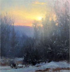 """Morning Glow"" ~ 6x6 oil by Michael Godfrey"