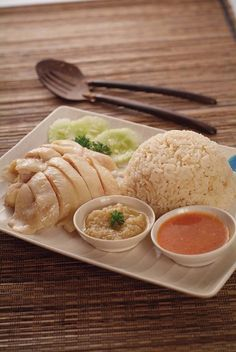 JP: Chicken Rice recipe - Hainanese chicken rice is a dish of Chinese origin most commonly associated with Hainanese Cuisine, Malaysian Cuisine and Singapore Cuisine. It is based on the well-known Hainanese dish called Wenchang chicken.