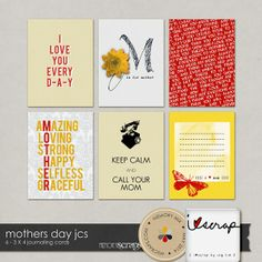 FREE Mothers Day Journal Cards by iscrap