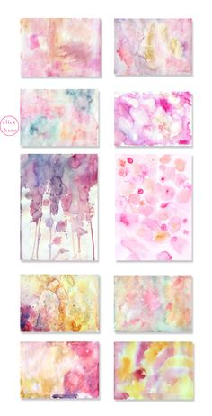 Pink watercolor backgrounds  by holaholga on @creativemarket
