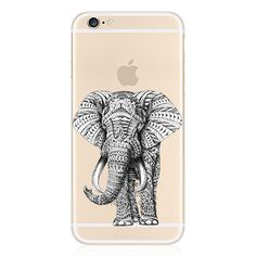 For iPhone 6 6S Plus Case 5.5 Inch Ultra Thin Clear TPU Elephant Aztec Animal Cell Phone Cases Covers
