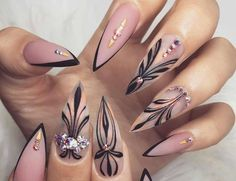 """If you're unfamiliar with nail trends and you hear the words """"coffin nails,"""" what comes to mind? It's not nails with coffins drawn on them. Although, that would be a cute look for Halloween. It's long nails with a square tip, and the look has. Hallographic Nails, Sexy Nails, Trendy Nails, Hair And Nails, Nails 2016, Coffin Nails, Sexy Nail Art, Blush Nails, Gradient Nails"""
