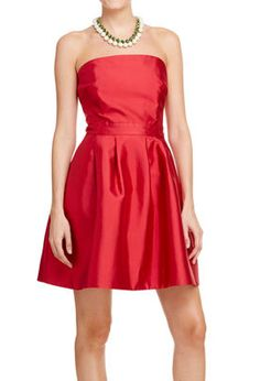 Silk Cotton Strapless Dress | bridesmaid dress?