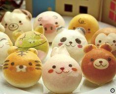 Cute sweet breads