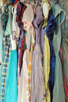what most of my closet looks like, but I love seeing other peoples dress collections