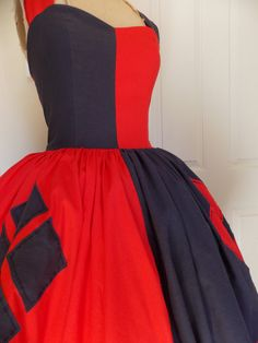 Custom made to order Harley Quinn Joker Sweet Heart Halter Ruffled Dress by SweetHeartClothing on Etsy https://www.etsy.com/listing/202478124/custom-made-to-order-harley-quinn-joker