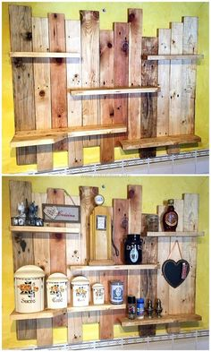 recycled pallets shelf #WoodworkingProjectsForSale