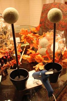 fall decorations   How to make these fall decorations and Thanksgiving table centerpieces