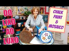 CHALK PAINT + MOSAICO ! Transformei o velho banquinho de madeira! #dolixoaoluxo - YouTube Tinta Chalk Paint, Diy Videos, Painting, Youtube, Timber Furniture, Wooden Stools, Painting Furniture, Painted Furniture, Mosaics