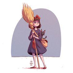 Ira Sluyterman van Langeweyde, Illustrator and Character Designer from Munich, Germany sketches,. Character Design Girl, Studio Ghibli Art, Ghibli Movies, Witch Art, Miyazaki, Character Drawing, Watercolor Illustration, Cute Art, Illustrators