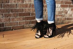 Lauren daring to wear Nasty Gal x Jeffrey Campbell Suede Fringe Heels! \\ #NastyGalsDoItBetter > http://oohlolo.com/2015/04/18/dare-to-wear-sizzling-shoes/