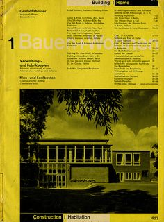 Bauehn+Wohnen magazine. Richard Paul Lohse (1953).