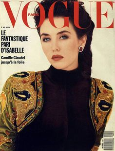 Film and the covers of Vogue Paris: Isabelle Adjani on the November 1988 cover of Vogue Paris