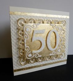 by sistersandie - Cards and Paper Crafts at Splitcoaststampers Pure Gold! by sistersandie - Cards and Paper Crafts at Splitcoaststampers<br> Homemade Wedding Gifts, Homemade Anniversary Gifts, Anniversary Gifts For Couples, 50th Anniversary Cards, 50th Birthday Cards, Anniversary Ideas, Anniversary Surprise, Sister Birthday, Birthday Quotes