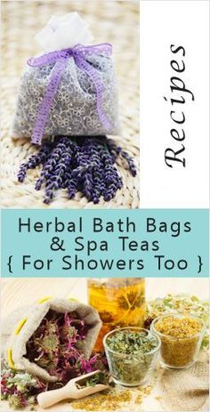 Herbal Bath & Shower Bags: {Recipes & How-To} Make drawstring pouches out of cheesecloth, organza or muslin, enough to hold anywhere from cup to cup of a favorite herbal mix. Tie them tightly shut so the loose ingredients won't float out. Bath Bombs, Bath Tea, Diy Spa, Homemade Beauty Products, Beauty Recipe, Belleza Natural, Home Made Soap, Bath Salts, Homemade Gifts