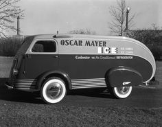 "Before the ""Weinermobile"" there was...actually, I don't think it's the same people but it is one cool delivery van!"