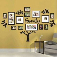 I'm pretty sure Bed Bath & Beyond carries this: Hallway Family Tree Collage Picture Photo Wall Art Large Wedding Frame Decor Frames On Wall, Wall Collage, Tree Collage, Collage Ideas, Frames Ideas, Collage Photo, 3d Wall, Wooden Frames, Photowall Ideas