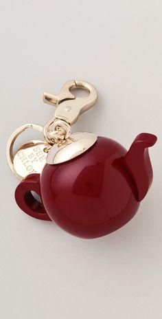 See by Chloe Tea by Chloe Key Ring Tea Lounge, Cute Teapot, Heart Keyring, New Gadgets, Small Leather Goods, Key Fobs, See By Chloe, Key Rings, Tea Party