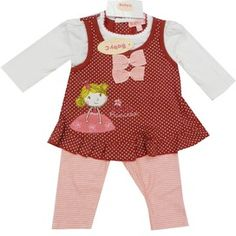 Girls Little Princess printed top and trouser 2 piece set (0-9 months)