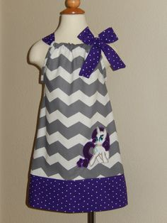 Rarity My Little Pony Pillowcase Dress by Just4Princess on Etsy, $28.50