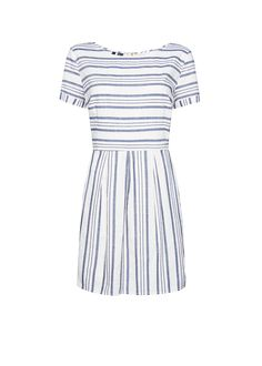 Navy doll dress by MANGO