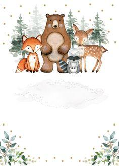 Woodland Critters, Woodland Baby, Woodland Animals, Safari Theme Birthday, Animal Birthday, Big Animals, Forest Animals, Animal Sketches, Animal Drawings