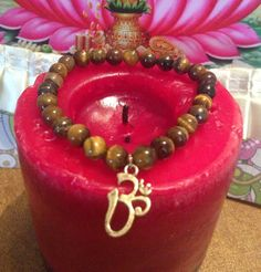 Tiger Eye  Bracelet yoga meditation balance by TriquetraBoutique