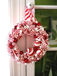 peppermint wreath   Flickr - Photo Sharing!