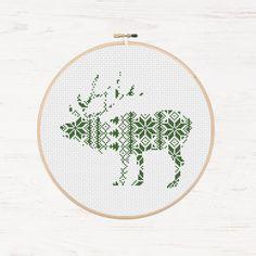 Christmas elk pattern