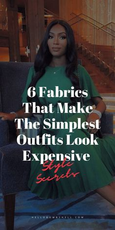 Fabric is perhaps the most important component when assessing the quality of clothing. Yet, if you're like most consumers, you probably have a hard time identifying true quality vs. crap. By mastering the basics of discerning high quality from low-quality fabric, you can shop with confidence, select exceptional wardrobe pieces, and never be fooled into buying crap clothes again. Self-improvement life hack to improve appearance, dress better, and develop elegant style as a woman. #lifehack… Simple Outfits, Cool Outfits, How To Look Expensive, Brown Fashion, Elegant Woman, Style Guides, Black And Brown, Nice Dresses, Fashion Tips