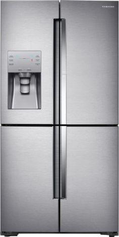 Samsung - ShowCase 22.04 Cu. Ft. 4-Door Flex French Door Counter-Depth Refrigerator - Stainless steel - Front Zoom