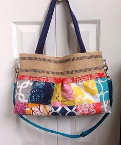 Shoulder Bag with messenger strap on Etsy, $63.00