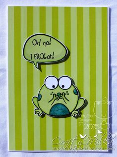 Crafty Milka: I FROGot! Card (Kitty Bee Designs Spotlight)