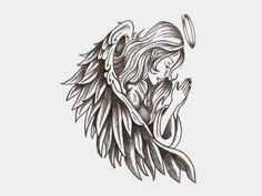 bettend-engel-tattoo-vorlage-design-für-schulter-rücken