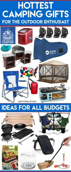Unusual Camping Gifts for the Outdoor Enthusiast - Do you have a camper or outdoor enthusiast on your shopping list? Check this Unusual Camping Gifts List for this year's hottest gifts. There is stuff for camping, hiking, and other outdoor activites. There are gift ideas for campers in all budget ranges. #camping #gifts #giftguide #camper #hottestgifts