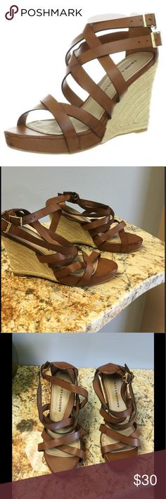 Chinese laundry Down Town wedge sandals Worn once for a couple hours Chinese Laundry Shoes
