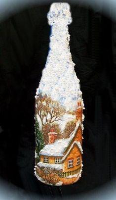 Внимание! Декупаж новогоднего шампанского - пора готовиться к праздникам! - Ярмарка Мастеров - ручная работа, handmade