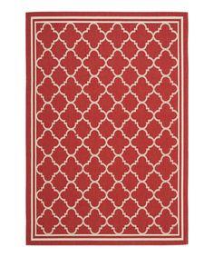 Another great find on #zulily! Red & Bone Arthur Indoor/Outdoor Rug by Safavieh Rugs #zulilyfinds